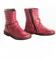 new girls PePe Rose Short Boots made in Italy leather 22, us 6/6.5 shoes Quilted