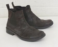 Born Hand Crafted Footwear Distressed Brown Leather Pull-On Ankle Boots US 10.5