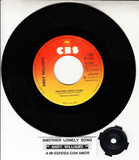 """ANDY WILLIAMS  Another Lonely Song 7"""" 45 rpm record RARE! + jukebox title strip"""