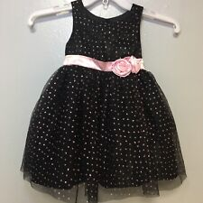 Pinky Girl 3T Fancy Tulle Sequin Dress Black Pink Formal Holiday / Christmas