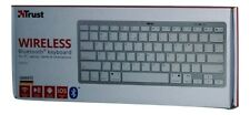 TRUST Nado Bluetooth QWERTZ dünne Tastatur für PC,Laptop,Tablet,Smartphone