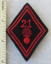 FRENCH ARMY 21st INFANTRY SLEEVE DIAMOND PATCH Vintage ORIGINAL