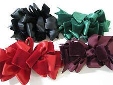 LOT 4 Vtg FRENCH HAIR CLIPS BARRETTES BOWS Velvet/Satin PARTY CHRISTMAS? 80/90's