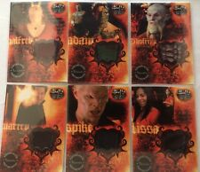 Buffy the Vampire Slayer Big Bads Pieceworks Costume 6 Card Set (missing PW2)