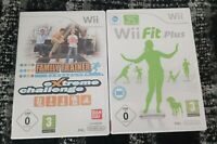 NINTENDO Wii FIT PLUS + Wii FAMILY TRAINER EXTREME CHALLANGE, GAMES ONLY