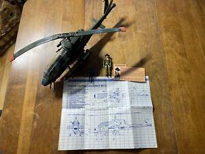 1983 GI Joe Dragonfly XH1 Complete Wild Bill Blueprints File Card 3.375 ARAH