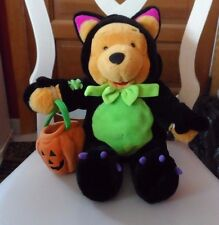 Disney Plush - Halloween Pooh dressed in a Dragon costume holding a pumpkin 16""