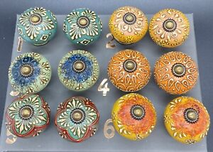 Multicoloured Door Knobs Vintage Charm 6x4cm Sold individually 2 or more 15% Off