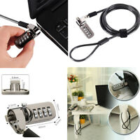 Laptop Lock Notebook Combination Security Cable Lock 4 Digit Password Protection