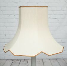 Vintage X Large Ivory Gold Lamp Shade Hexagonal Frame Old Shabby Chic Lampshade