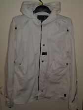 G Star white canvas parker size xl but fits medium