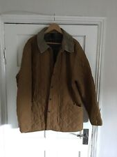 Barbour Jacket Mens Size Xxl Tan Quilted