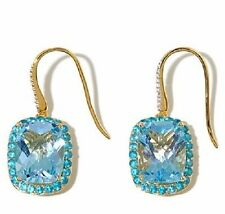 Rarities with Carol Brodie 26.9 ctw Sky Blue Topaz and Apatite Vermeil Ear Rings