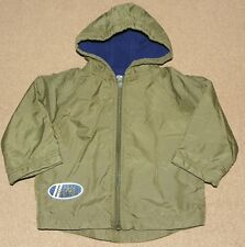 Boys SMALL STEPS Olive Green JACKET Size 2T Hooded