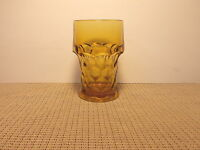 "Vintage Anchor Hocking Glass Georgian Amber/Topaz Pattern 5 1/2"" Flat Tumbler"