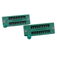 US Stock 2x 20 Pin 2.54mm ZIF ZIP IC Test DIP Board Socket Universal 220-3345