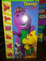 BARNEY SAFETY VHS HOME VIDEO PURPLE DINOSAUR & FRIENDS BABY BOP BJ FREE SHIPPING