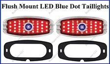 Flat Mount LED Blue Dot Taillights Roll Pan Bumper Custom Chevy Truck C4148BD