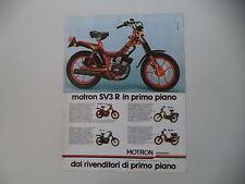 advertising Pubblicità 1980 MOTRON 50 SV3 R ID/GL4 GL 4/RA SV/RA G1
