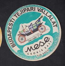 Ancienne  étiquette Fromage Hongrie  BN10901 Anciennes voitures Ford modèle J