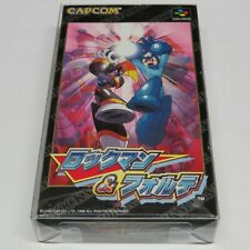 Rockman & Forte Super Famicom Japan Mega Man and Bass * VGC / Near-Mint *