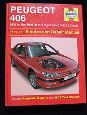 PEUGEOT 406 PETROL & DIESEL HAYNES SERVICE REPAIR MANUAL 1996 ~ 1999 3394