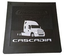 "Freightliner Cascadia Trucks Semi-Truck 24""x24""x1/4"" Black Rubber Mud Flaps-Set"