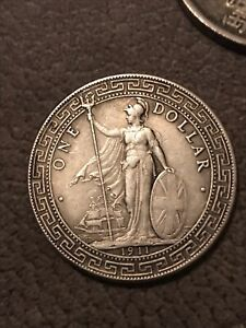 Rare 1912 Chinese One silver Trade Dollar Coin 26.17g