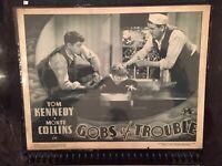 "RARE TOM KENNEDY MONTE COLLINS 1935 LOBBY CARD W/ OUR GANG -TOMMY "" BUTCH ""BOND"
