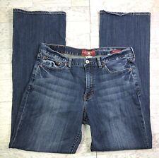 Lucky Brand 361 Vintage Boot Blue Jeans Mens 34x34 (34x32 Actual) Flex Denim