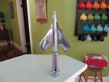 """Vintage High Quality Flag Pole Top Topper Chrome Spike Spade Shape 7 7/8"""" Tall"""