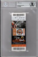 "BECKETT ANDREW SHAW SIGNED INSCRIBED ""1ST GAME 1ST FIGHT 1ST GOAL"" TICKET STUB 6"