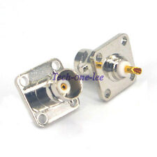 10pcs BNC Female Connector 4 Hole Panel Mount Antenna Adapter Solder Chassis Cup
