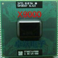 Original lntel Core Laptop CPU processor X9000 CPU 6M Cache 2.8GHz, 800MHz LOT