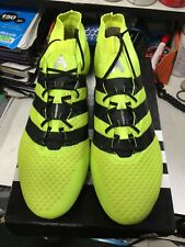 adidas ace 16.1 primeknit Fg Soccer Cleats Neon Black Size 11.5 Only