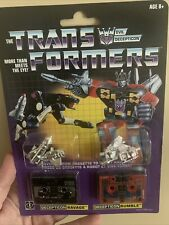 Hasbro Transformers G1 Reissue Cassette Decepticon Ravage And Rumble- New