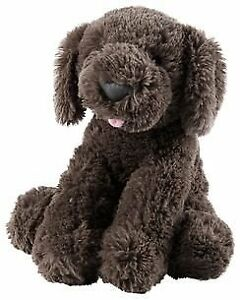 NWT Carters Plush Dark Brown Puppy Dog With Tongue Sticking Out Baby Toy 67302