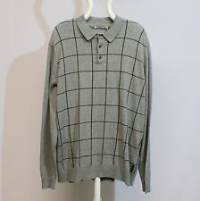 Ben Sherman Polo Shirt Intarsia Heritage ME11770-M31 Longsleeve grau Gr. XXL