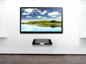 Glass Floating Shelf Wall Mount DVD Tempered Glass Elegant Modern HQ UK STOCK