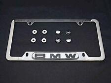 BMW License Plate Frame Polished Stainless Steel Genuine OEM