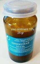 zinc ointment 10% 25 gr.  for pimples, small cuts, dermatitis цинковая мазь