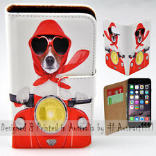 Wallet Phone Case Flip Cover ONLY for iPhone 6 / iPhone 6S - Dog Ride Scooter