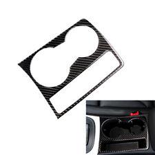 For Audi A4 B8 A5 2009-2015 Carbon Fiber Cup Holder Panel Frame Cover Trim