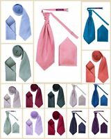 Dresscode Mens NEW Dupion Neck Tie & PreTied Cravats With Matching Pocket Square