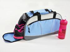 Markenqualität große Sporttasche Reisetasche Umhängetasche Blau/Grau 53cm