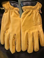 NWT Timberland Men's Heritage Nubuck Touchscreen Leather Gloves Tan Large