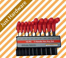 T HANDLE HEX KEY SET 10 PCS METRIC ALLEN WRENCH 2 -10 mm ALLAN KEYS WRENCH