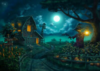 Halloween Farm Scarecrow 300 Pcs Jigsaw Puzzle Adult Kids Educational Toys Gifts