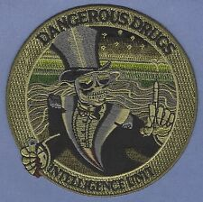 DEA DRUG ENFORCEMENT DANGEROUS DRUGS INTELLIGENCE UNIT POLICE PATCH GREEN