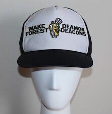 vtg NOS Wake Forest Demon Deacons Mesh Trucker Snapback Hat 80s New NWT M/L